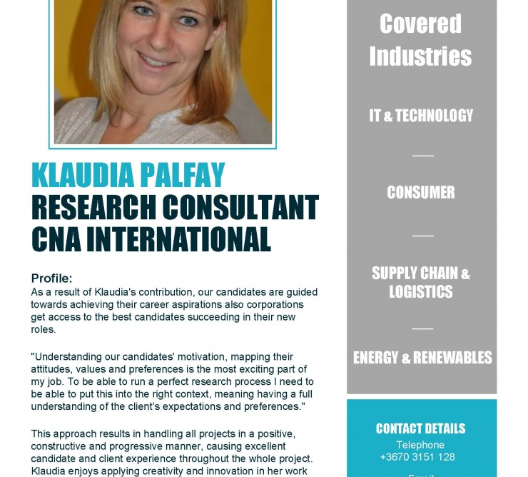 Klaudia Palfay Researcher
